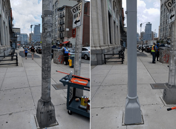 Light Pole Before & After