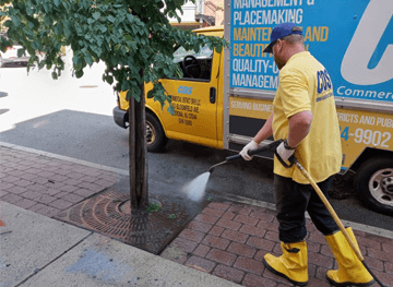 Hoboken Pressure Washing Detail